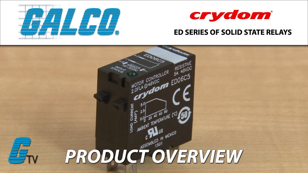 Crydoms Ed Series Of Solid State Relays Youtube Relay Brands