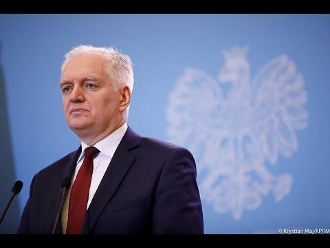 Wicepremier Jarosław Gowin Podczas Konferencji W KPRM