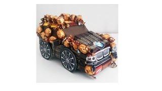 Сладкий BMW X5 или Подарок парню\брату своими руками из конфет! Часть 2. Декор машины