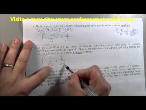 Probabilidade estatistica exercicios resolvidos