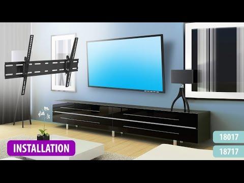 Flat Adjustable Tilting Wall Mount Installation
