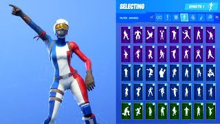 MOGUL MASTER FRA SKIN SHOWCASE WITH ALL FORTNITE DANCES & EMOTES