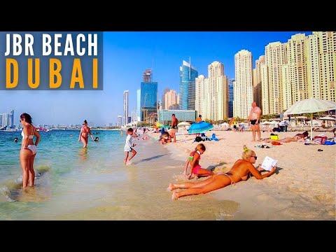 JBR Beach Dubai 2021   Walking Around Jumeirah Beach Dubai 4K- THE BEACH at Jumeirah Beach Residence