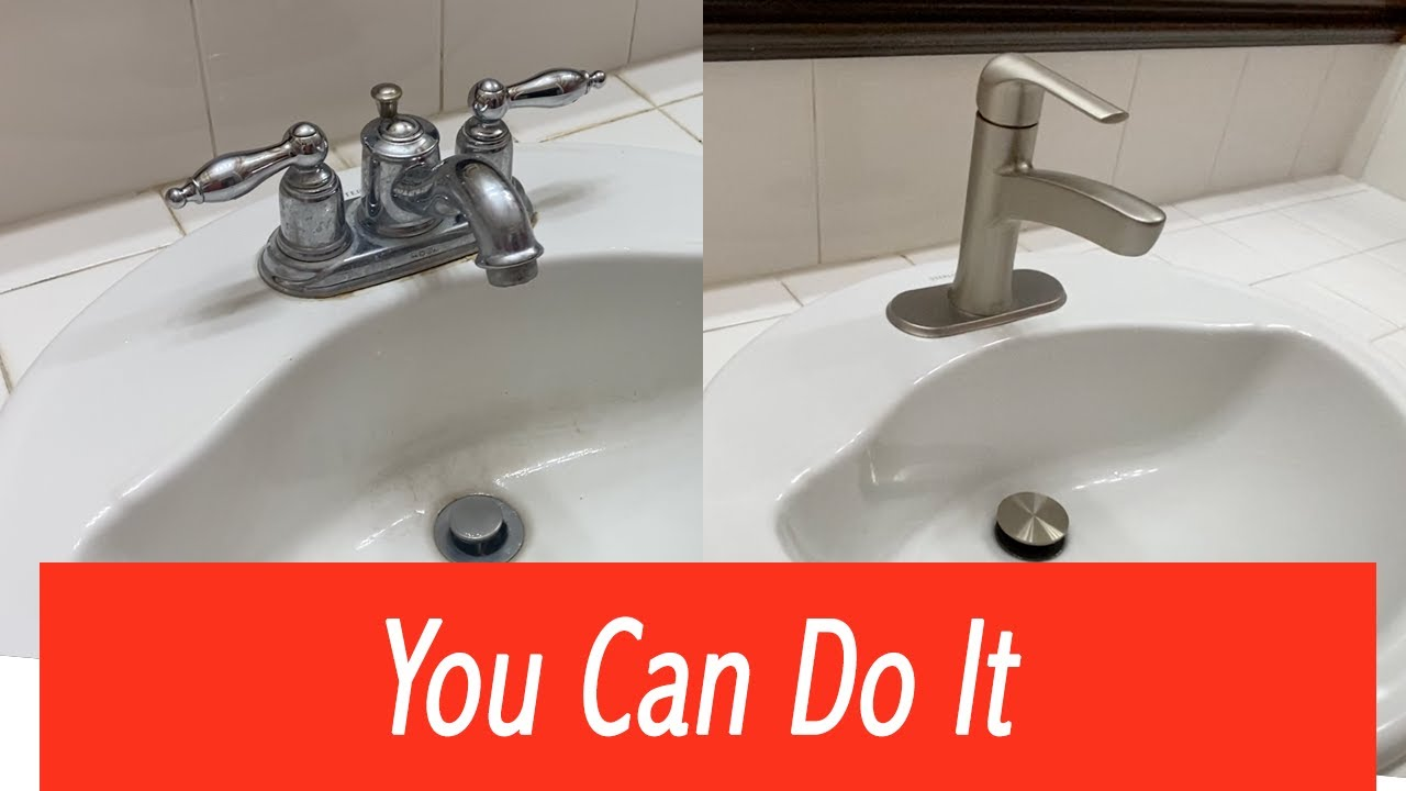 How To Install Or Replace Bathroom Sink Faucet