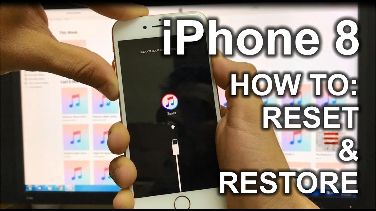How To Reset & Restore Your Apple Iphone 8  Factory Reset