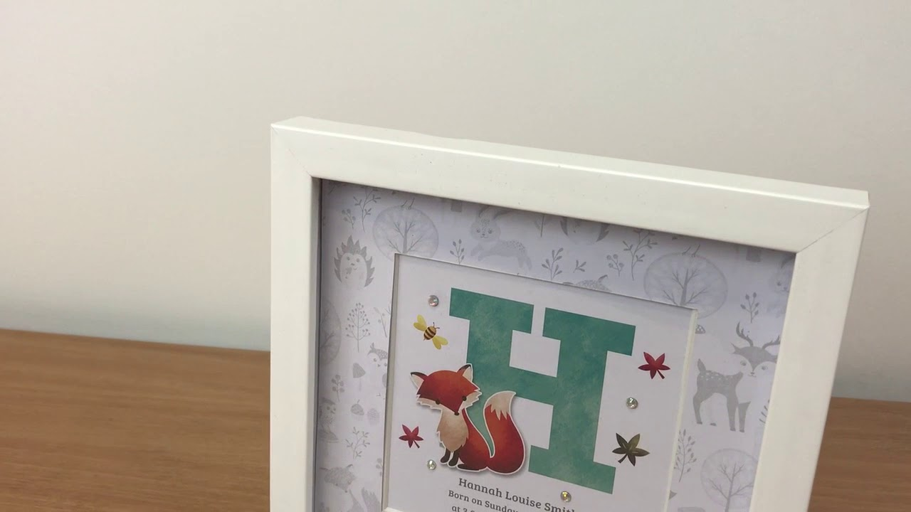 Frame My Name - Woodland Initial letter framed name print - YouTube