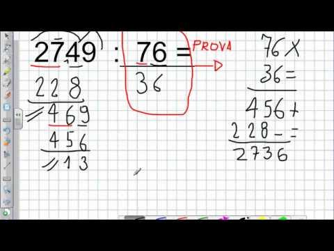 Divisione a due cifre con la prova