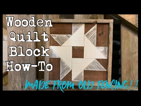 Geometric Wood Quilt Block Sign How-To