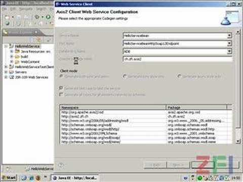 ZFI Webinar, Apache Axis2 Eclipse WTP Hello Web Client
