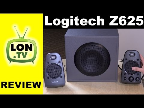 Logitech Z625 PC / Game Console Speakers Review - with Subwoofer