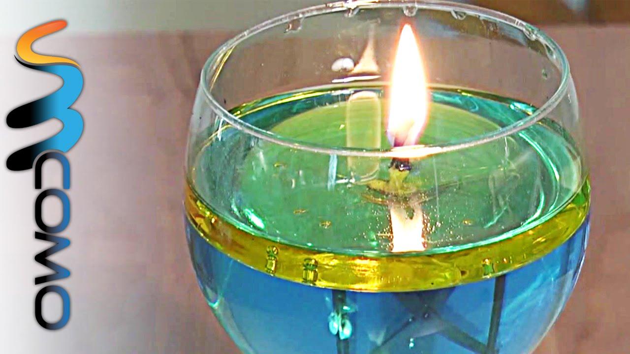 Fazer uma vela com gua e azeite youtube - Velas de agua ...