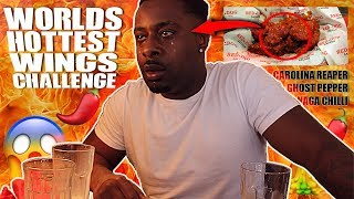 EATING WORLD'S HOTTEST WING CHALLENGE!! **I HAD A PANIC ATTACK**