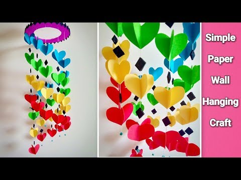 Attractive Wall Hanging Craft At Home Diy Paper Craft Ideas