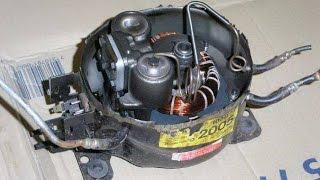 Компрессор воздушный из старого компрессора холодильника(Простейший компрессор из старого холодильника. Итак, для простейшего компрессора понадобятся: Фильтр возд..., 2015-09-13T11:13:14.000Z)