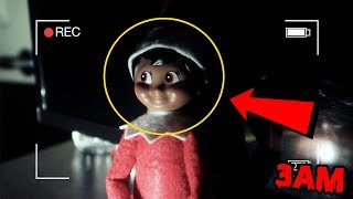 DONT PLAY WITH ELF ON THE SHELF AT 3AM   ELF ON THE SHELF CAUGHT MOVING ON CAMERA [MUST WATCH]
