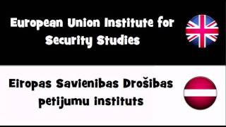 SAY IT IN 20 LANGUAGES = European Union Institute for Security Studies