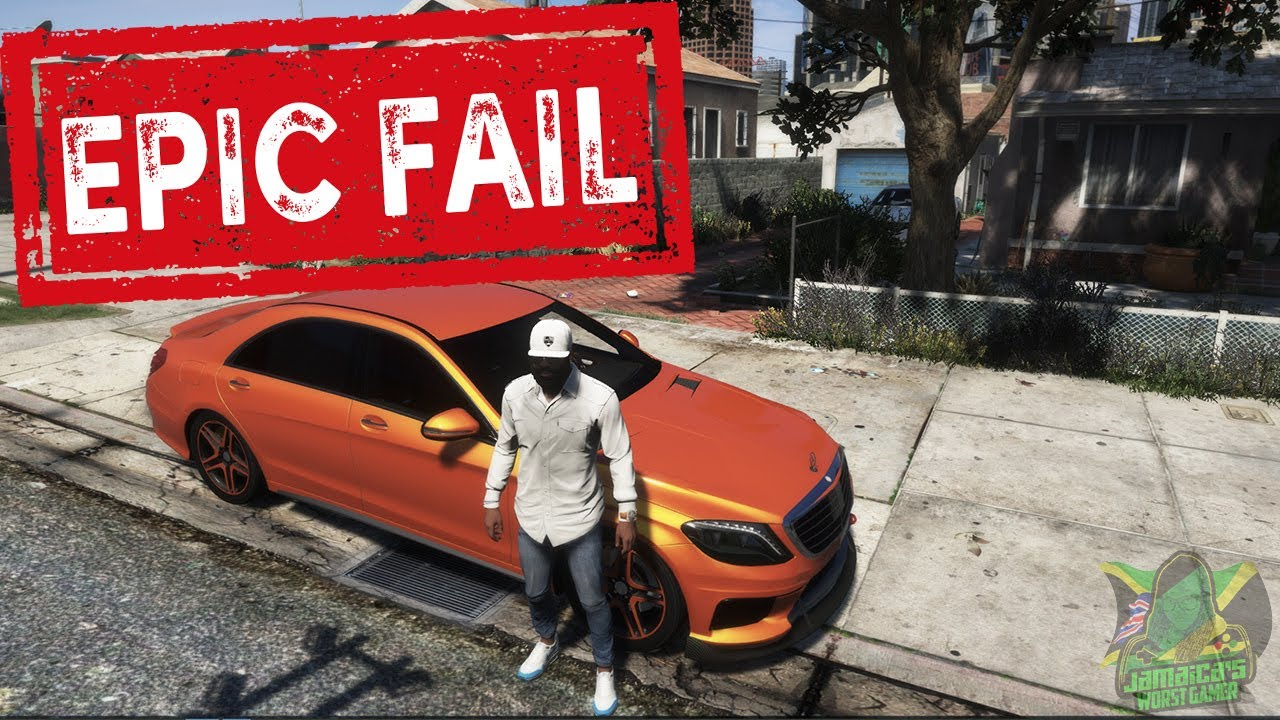Gta 5 | real life mods | EPIC FAIL | Jamaica's Worst Gamer | Jwg Nation