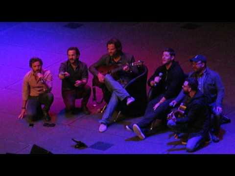 Jared Padalecki's guitar debut at AHBL8 Melbourne!