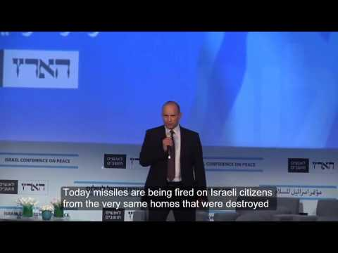 Bennett heckled at Haaretz peace conference