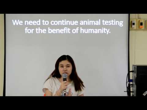 We need to continue animal testing for the benefit of humanity. Debate
