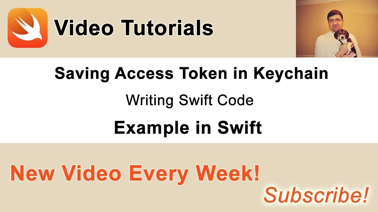 User Sign in, Sign up and Sign out in Swift - 12  Save Access Token in  Keychain