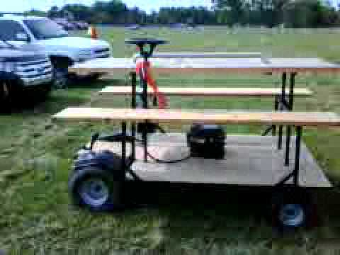 Motorized Picnic Table YouTube - Picnic table boat for sale