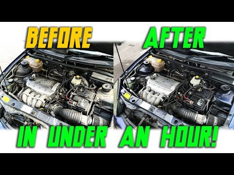 How To Clean Your Engine Bay (Under An Hour!)