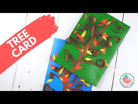 Fall Paper Crafts - Autumn Leaves Tree Card