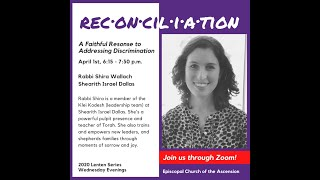 Reconciliation series: Rabbi Shira Wallach