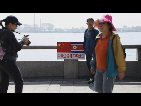 Tourists flock to Chinese city on North Korean border