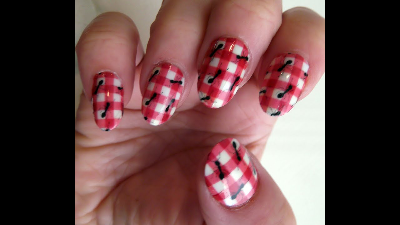 Ants Picnic Nail Art Water Slide Decal Tutorial by North of Salem ...