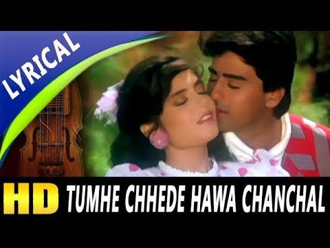 Tumhe Chhede Hawa Chanchal With Lyrics | Kumar Sanu, Alka Yagnik | Salaami 1994 Songs | Ayub Khan