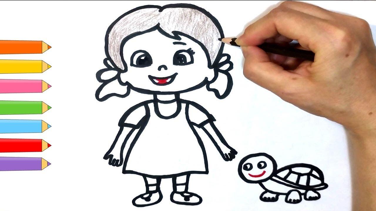 Niloya Nasıl çizilir çocuklar Için Niloya Boyama Ve çizimi Youtube
