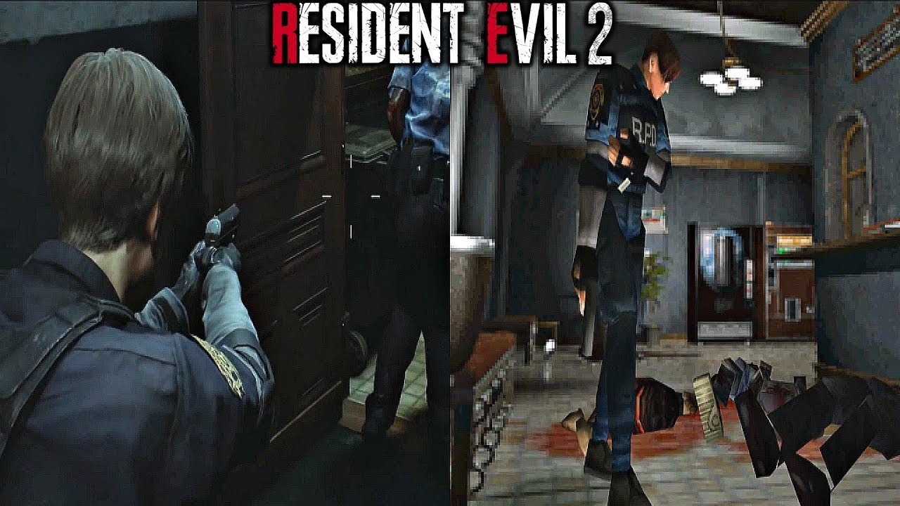 Resident Evil 2 Remake Gameplay Comparison Original Vs