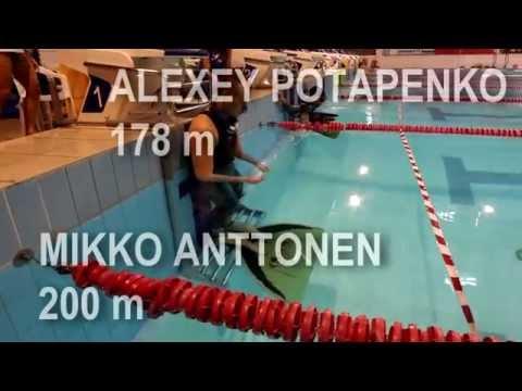 DYN Alexey Potapenko 178m Mikko Anttonen 200m Riga Freediving Cup 2015 AIDA