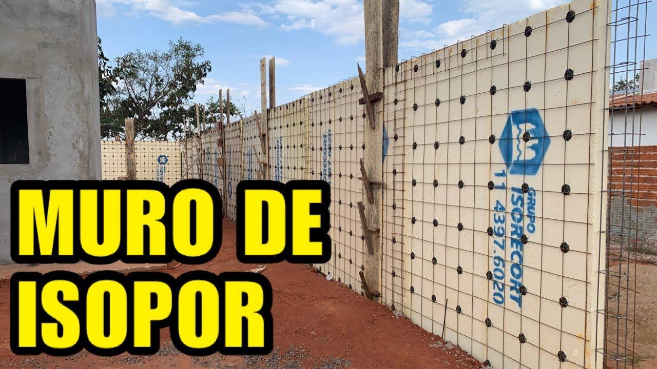 MURO DE EPS (Muro de isopor) da casa de Eps.
