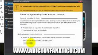 Como Actualizar el Software de tu Blackberry [FULL HD]