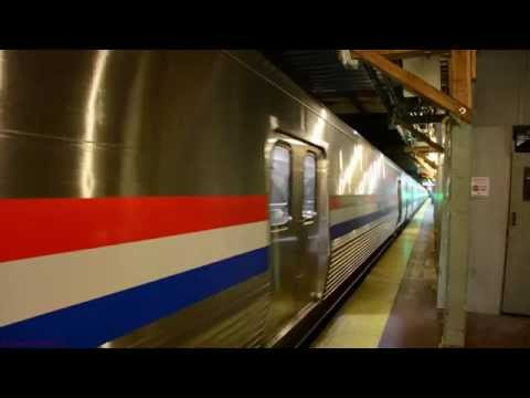Amtrak/CAF Viewliner II Baggage Cars @ New York Penn Station [4K]