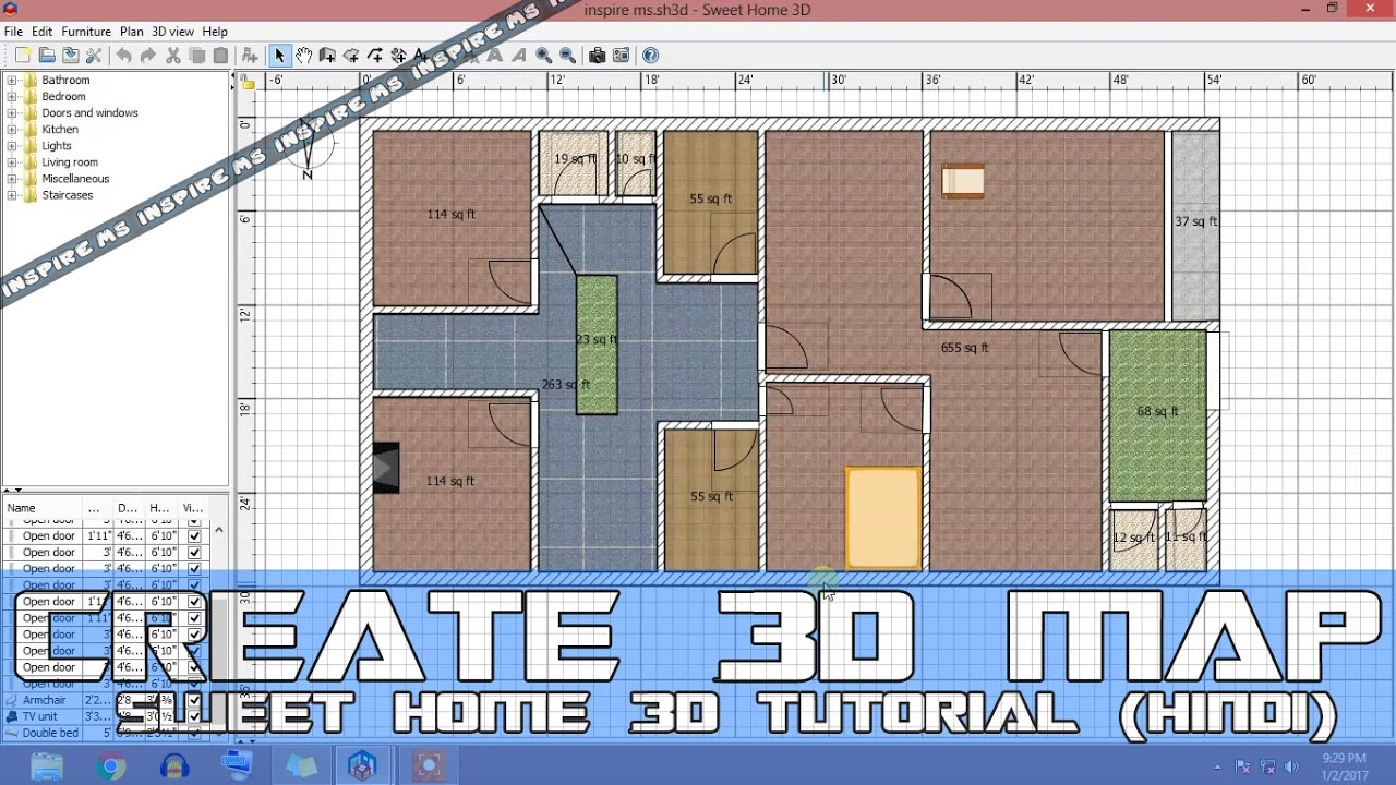 Hindi Version How To Create 3d Maps Of House Using Sweet