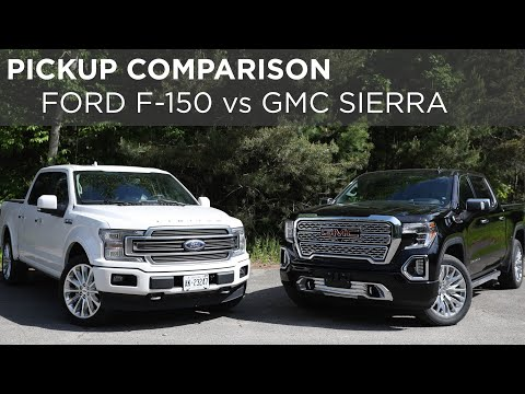 2019 Ford F-150 Limited vs. 2019 GMC Sierra Denali | Pickup Comparison | Driving.ca