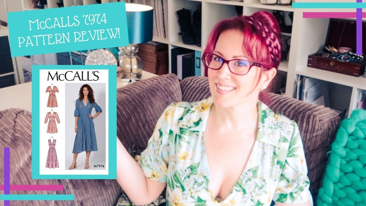 McCalls 7974 Pattern Review :: The Most Cleavage-Tastic Dress There Ever Was, I Love It!