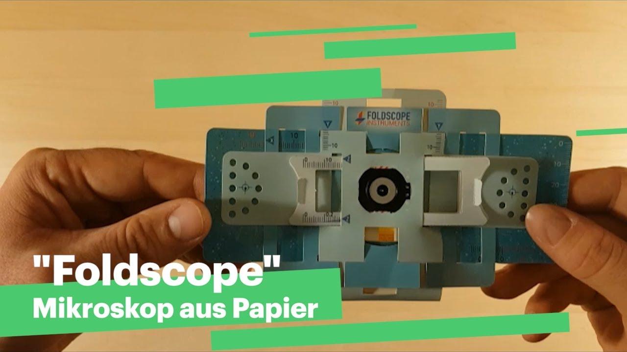 Foldscope mikroskop aus papier youtube