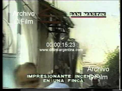 DiFilm - Incendio de vivienda en el partido de General San Martin 1989
