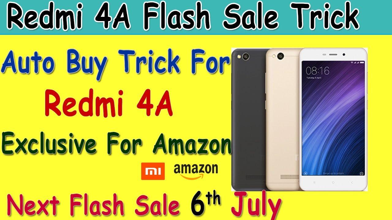 ☑️XIAOMI REDMI 4A Flash Sale Trick With AUTO BUY SCRIPT