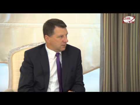 President Ilham Aliyev met with President of Latvia Raimonds Vejonis