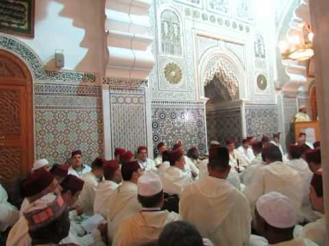 Récitation de la Burda à la zawiya Tidjaniya de Fés