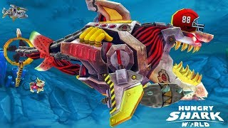 NEW Robot Shark Skin Eat Them ALL!!! - Hungry Shark World Gameplay