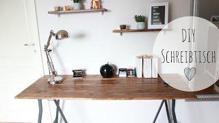 DIY Schreibtisch rustikal | Schreibtisch günstig selber bauen | Möbel selber bauen