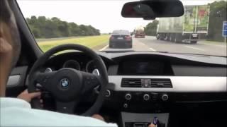 Crazy driving Bmw m5   بي ام دبليو قيادة مجنونة سباق