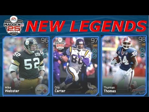 #MUT25 | New NFL Legends | Mike Webster, Cris Carter & Thurman Thomas